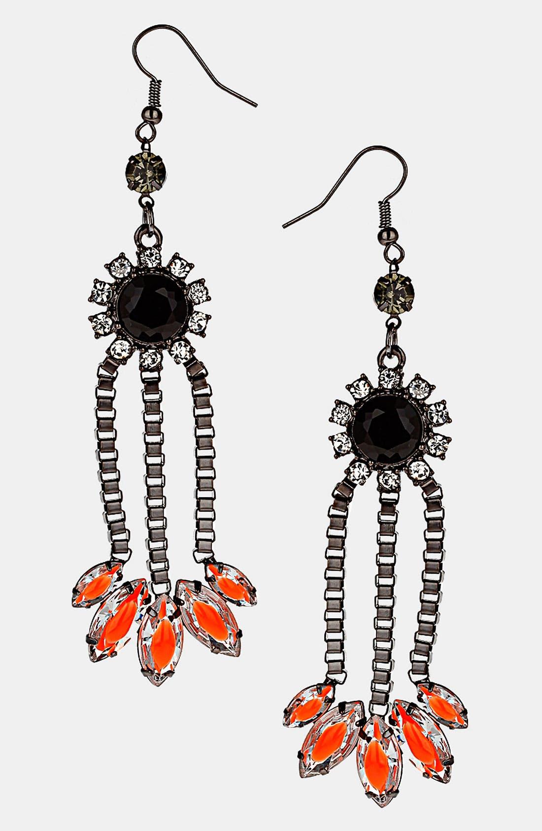 Main Image - Topshop Neon Flower Earrings