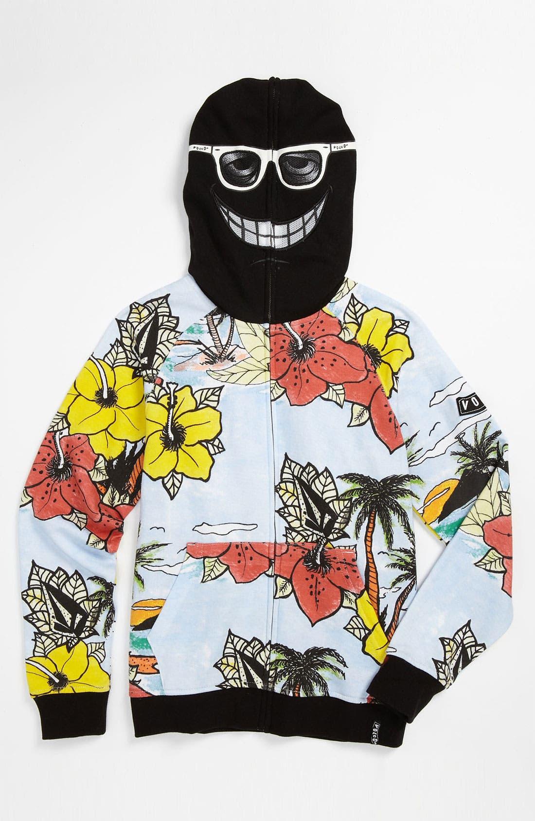 Main Image - Volcom 'Vacation' Mask Hoodie (Big Boys)