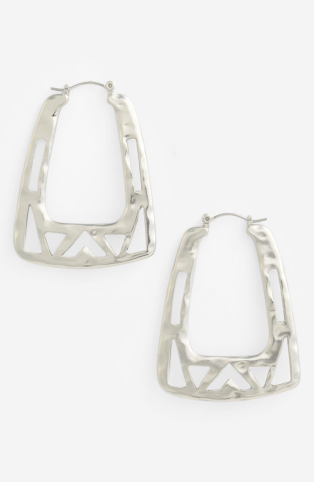 Alternate Image 1 Selected - Nordstrom Tribal Cutout Square Hoop Earrings