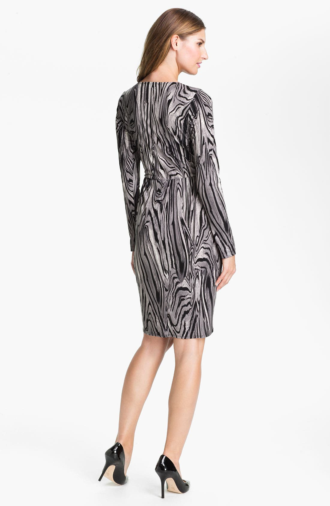 Alternate Image 2  - Karen Kane Pleated Faux Wrap Dress