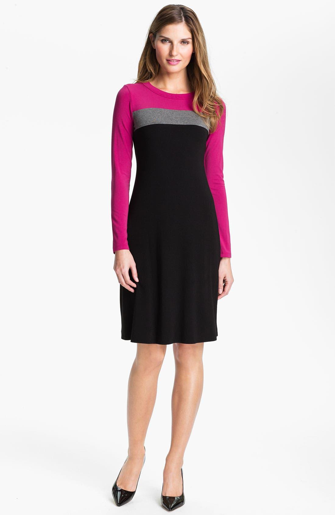 Main Image - Karen Kane Colorblock Dress (Online Exclusive)