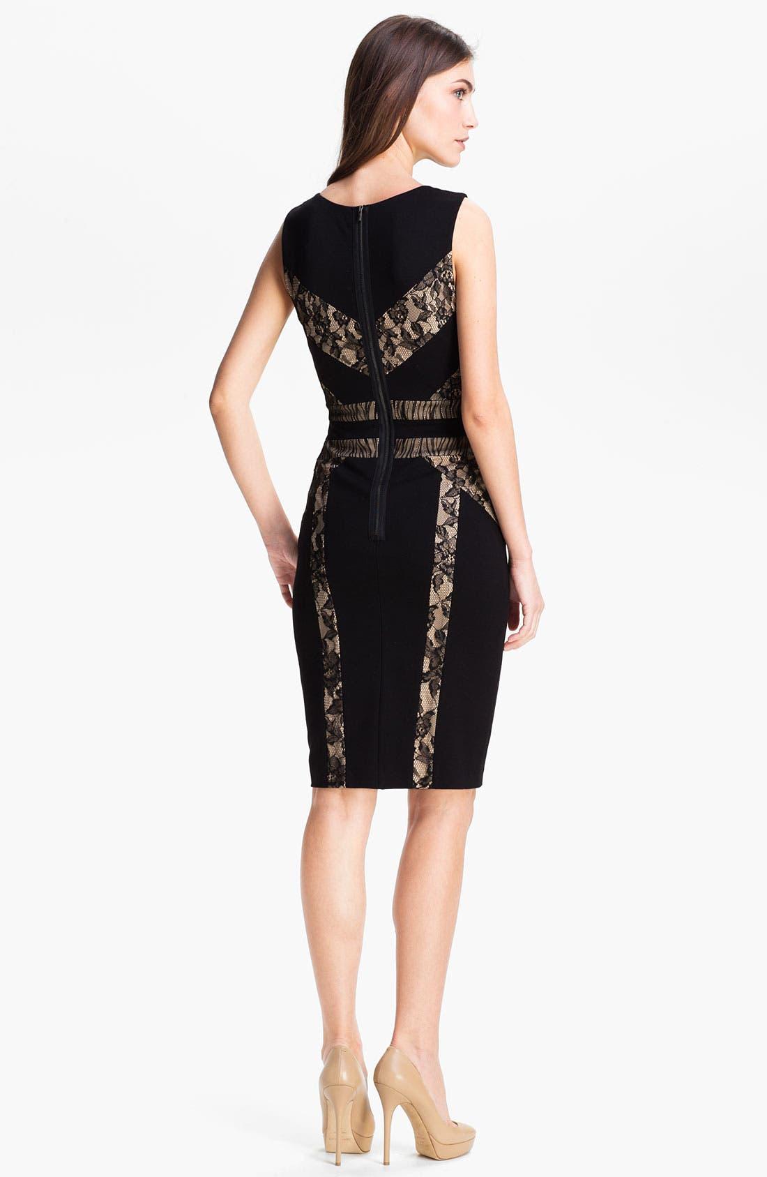 Alternate Image 2  - BCBGMAXAZRIA 'Raina' Techno Knit Sheath Dress