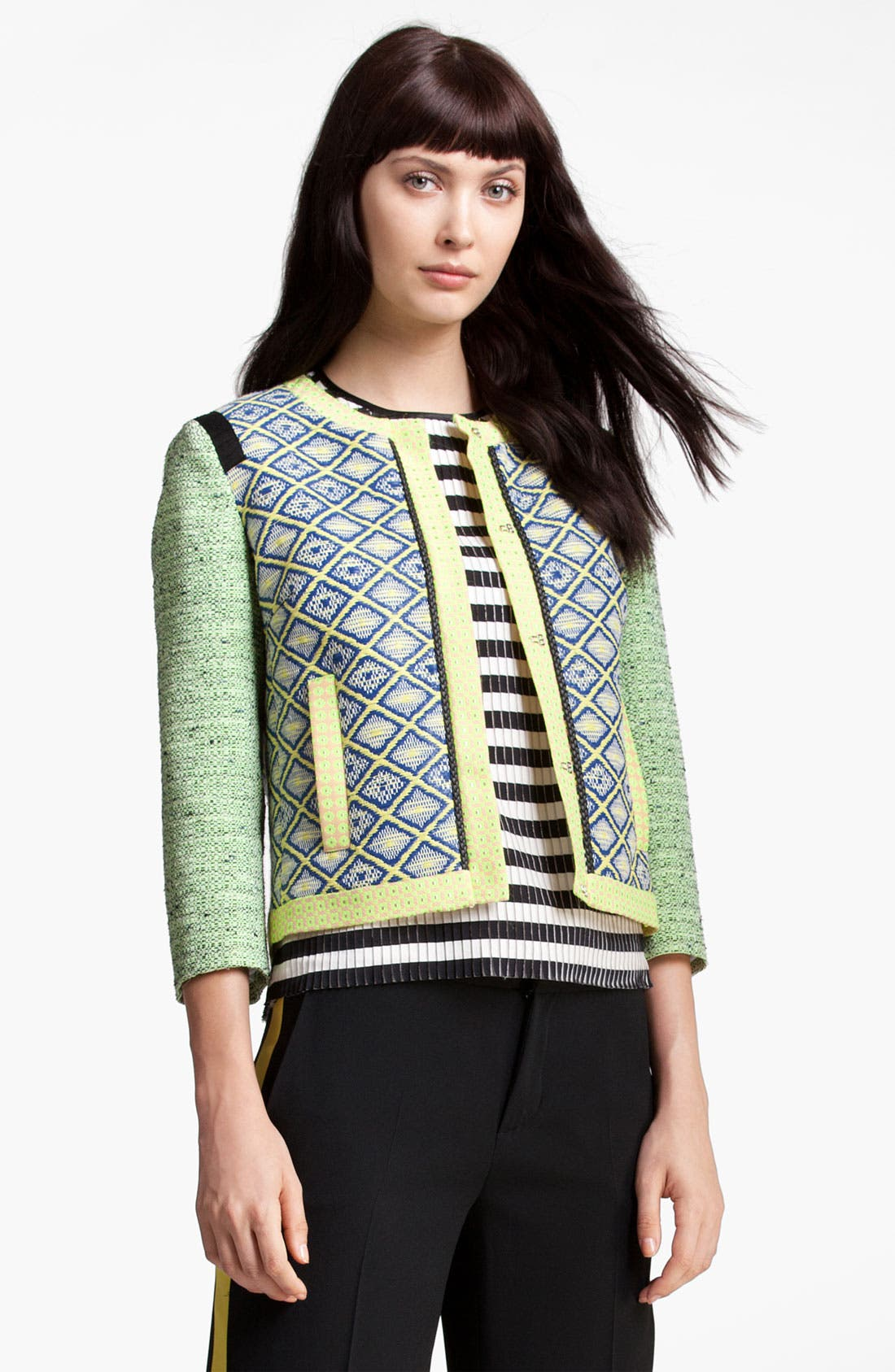 Alternate Image 1 Selected - MSGM Print & Tweed Jacket