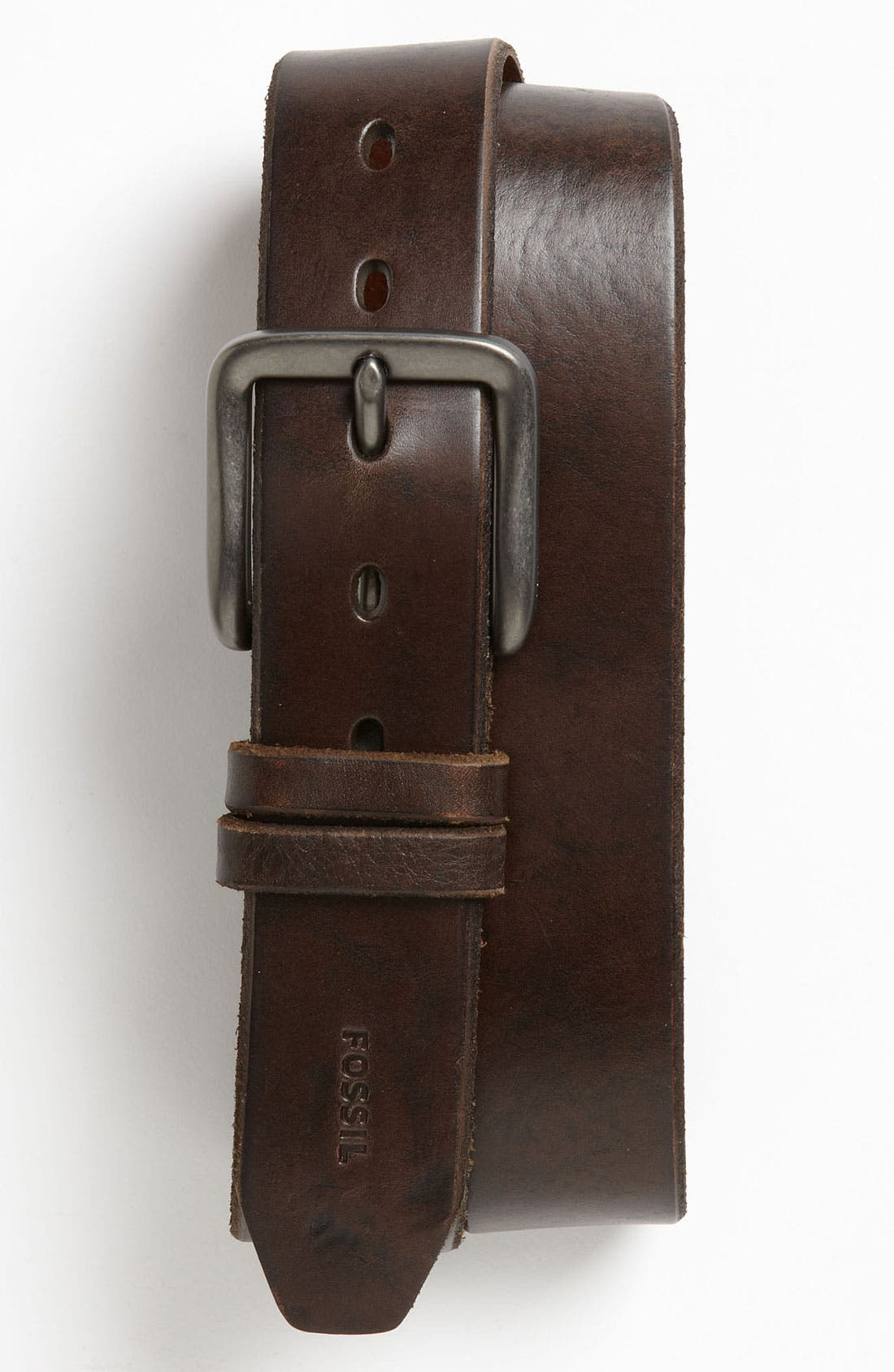 Alternate Image 1 Selected - Fossil 'Jason' Leather Belt