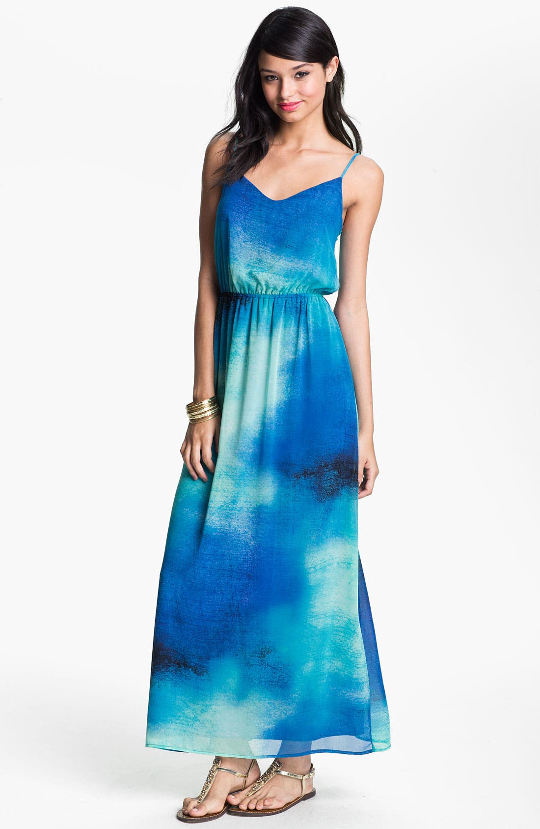 Alternate Image 1 Selected - Soprano Chiffon Maxi Dress (Juniors)