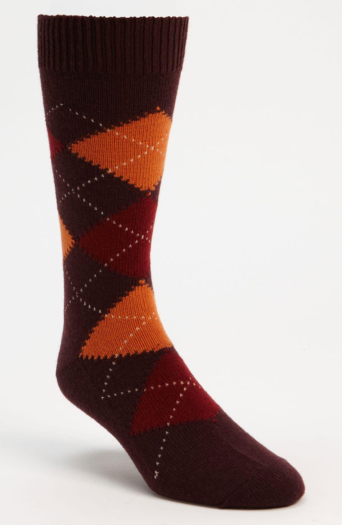 Alternate Image 1 Selected - Pantherella Argyle Wool Blend Socks