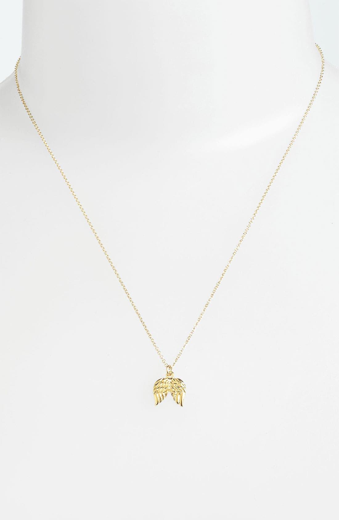 Alternate Image 2  - Dogeared Angel Wings Pendant Necklace