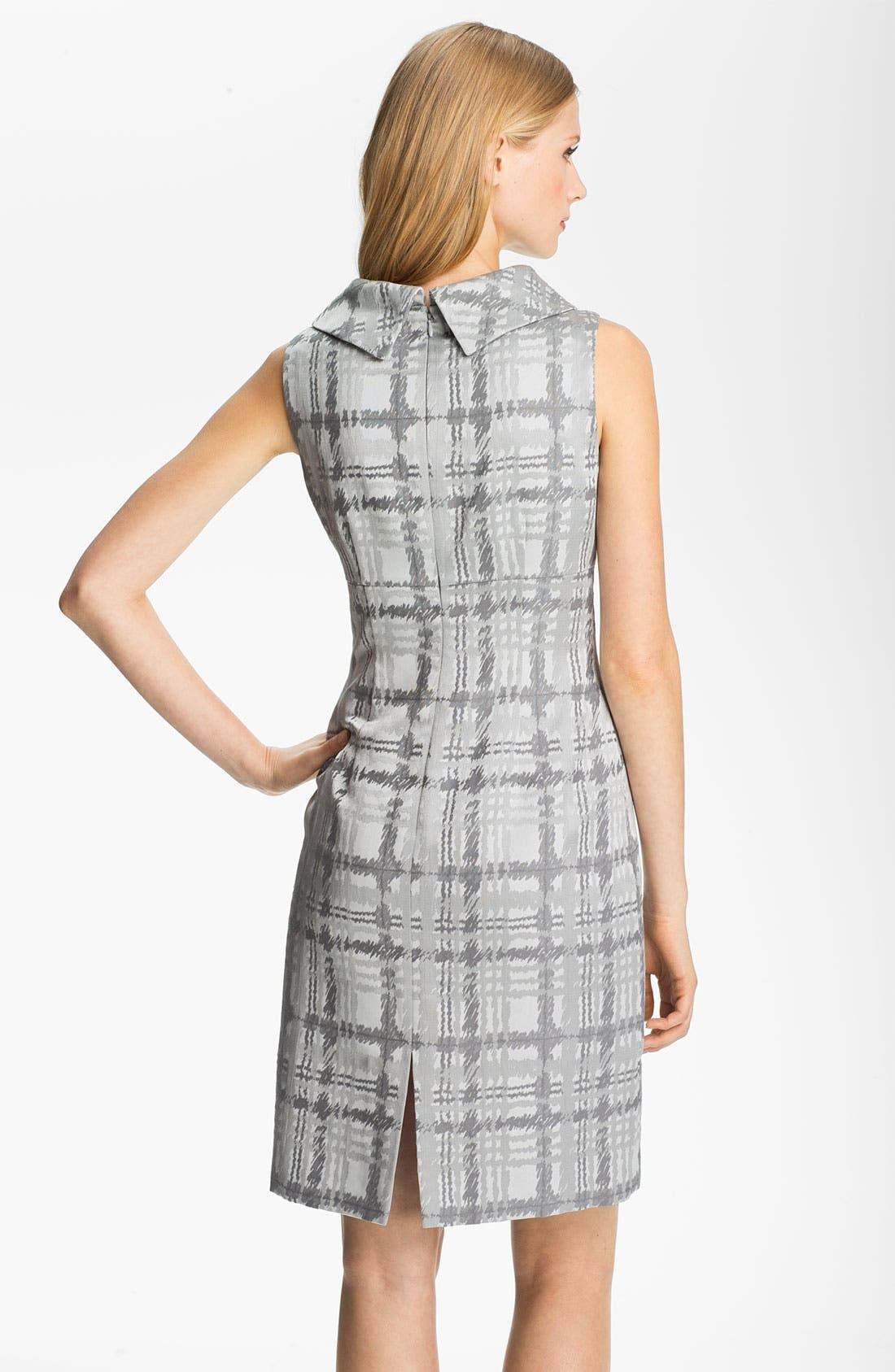 Alternate Image 2  - Tahari by Arthur S. Levine Folded Neck Plaid Sheath Dress