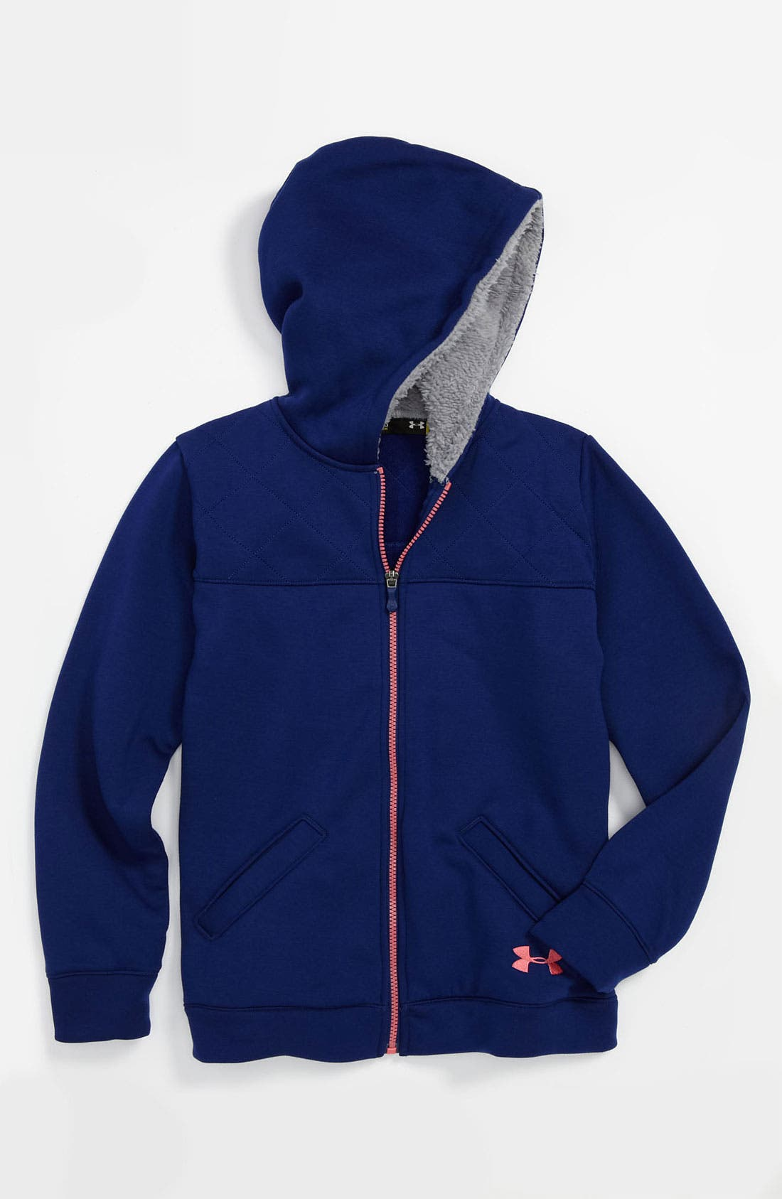 Alternate Image 1 Selected - Under Armour 'Super Warm' Hoodie (Big Girls)