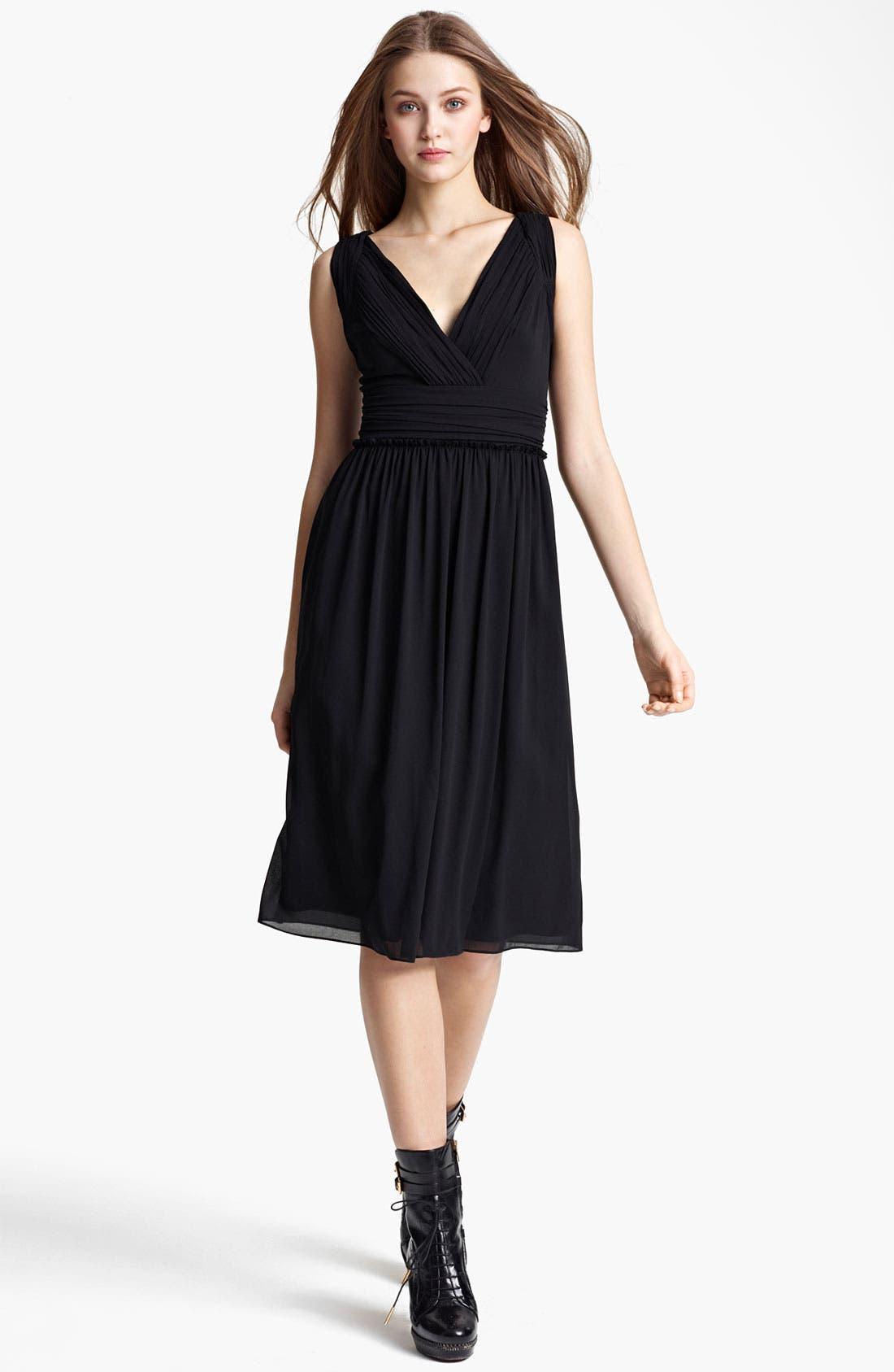 Alternate Image 1 Selected - Burberry London Pleat Crepe Dress
