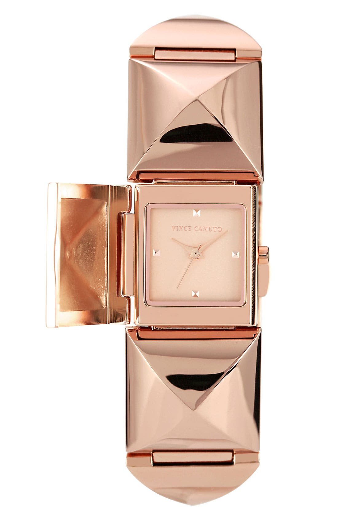 Alternate Image 1 Selected - Vince Camuto Pyramid Station Bracelet Watch, 25mm