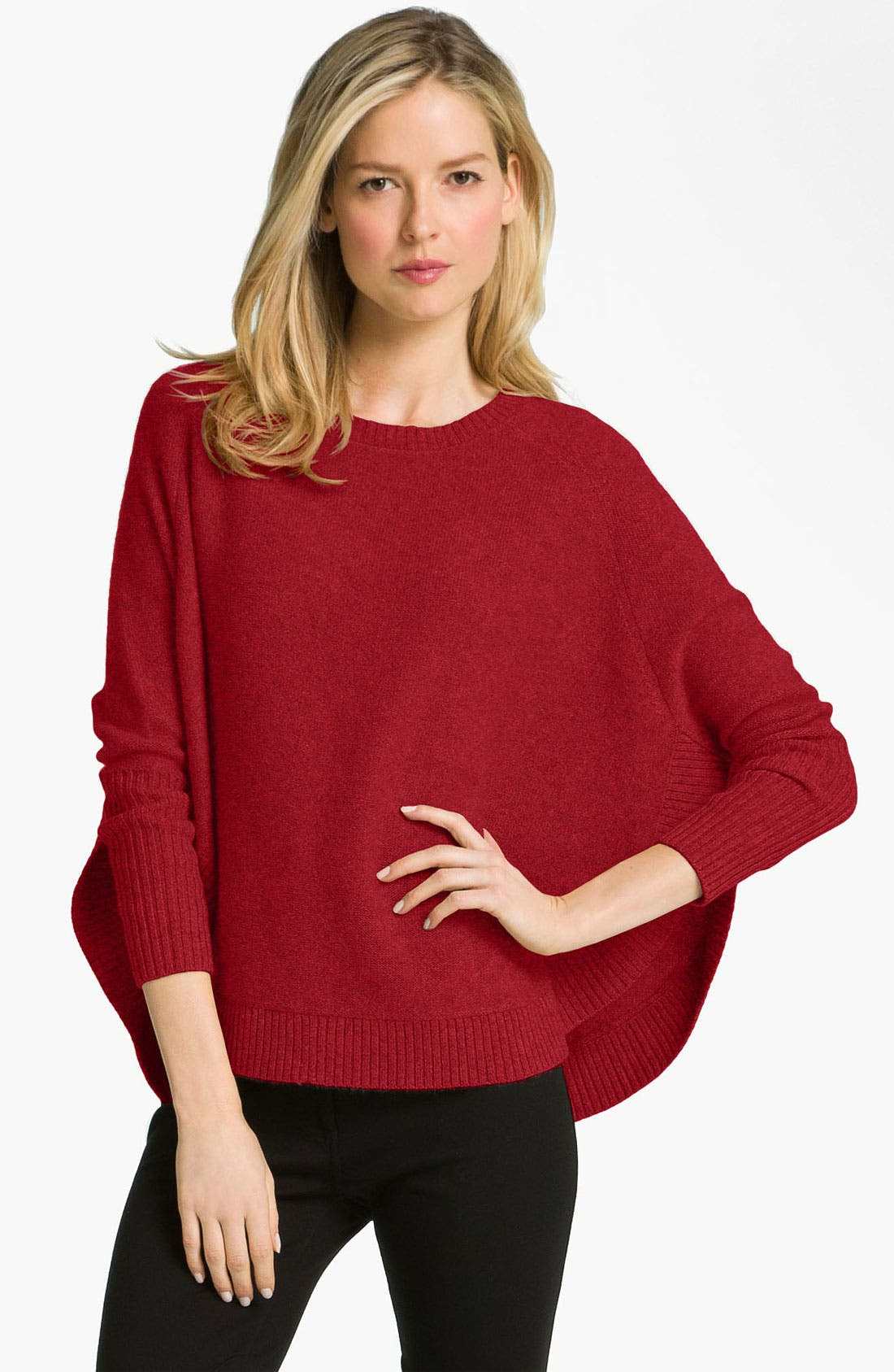 Main Image - Eileen Fisher Bateau Neck Cashmere Sweater (Nordstrom Online Exclusive)