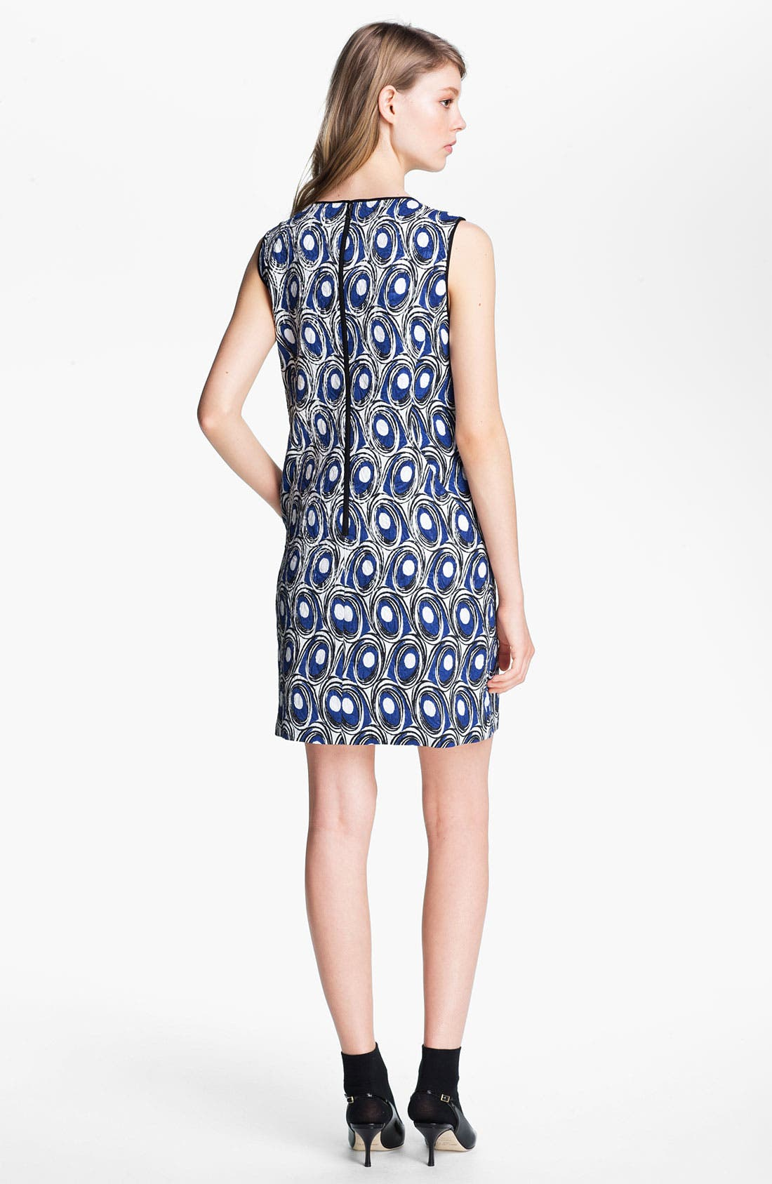 Alternate Image 2  - Miss Wu Abstract Print Jacquard Dress (Nordstrom Exclusive)