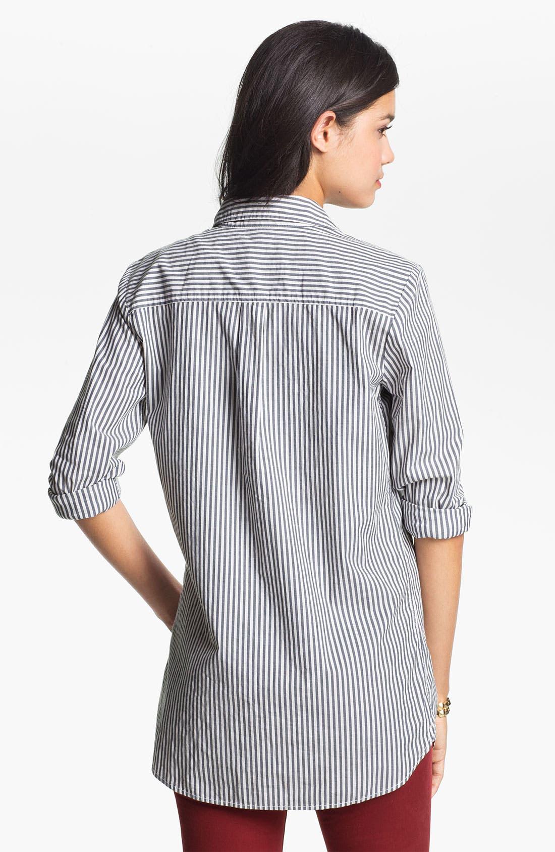 Alternate Image 2  - BP. Woven Button Front Shirt (Juniors)