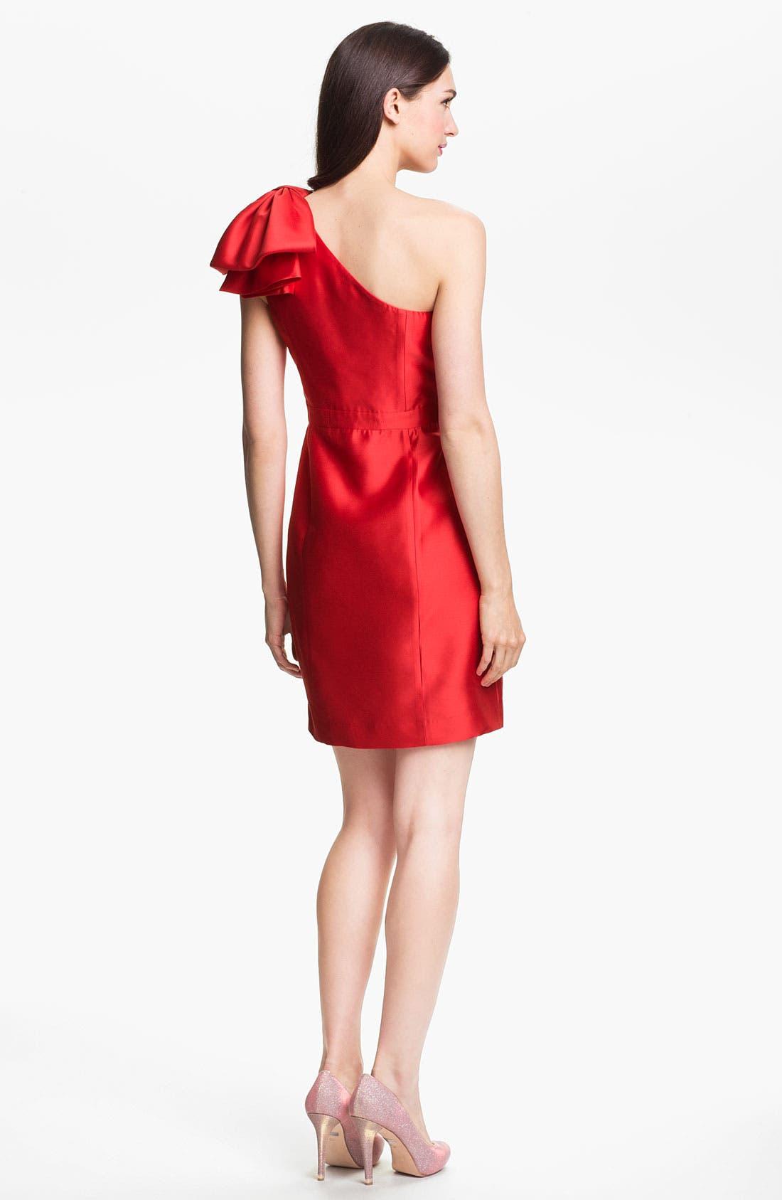 Alternate Image 2  - Shoshanna One Shoulder Satin Dress