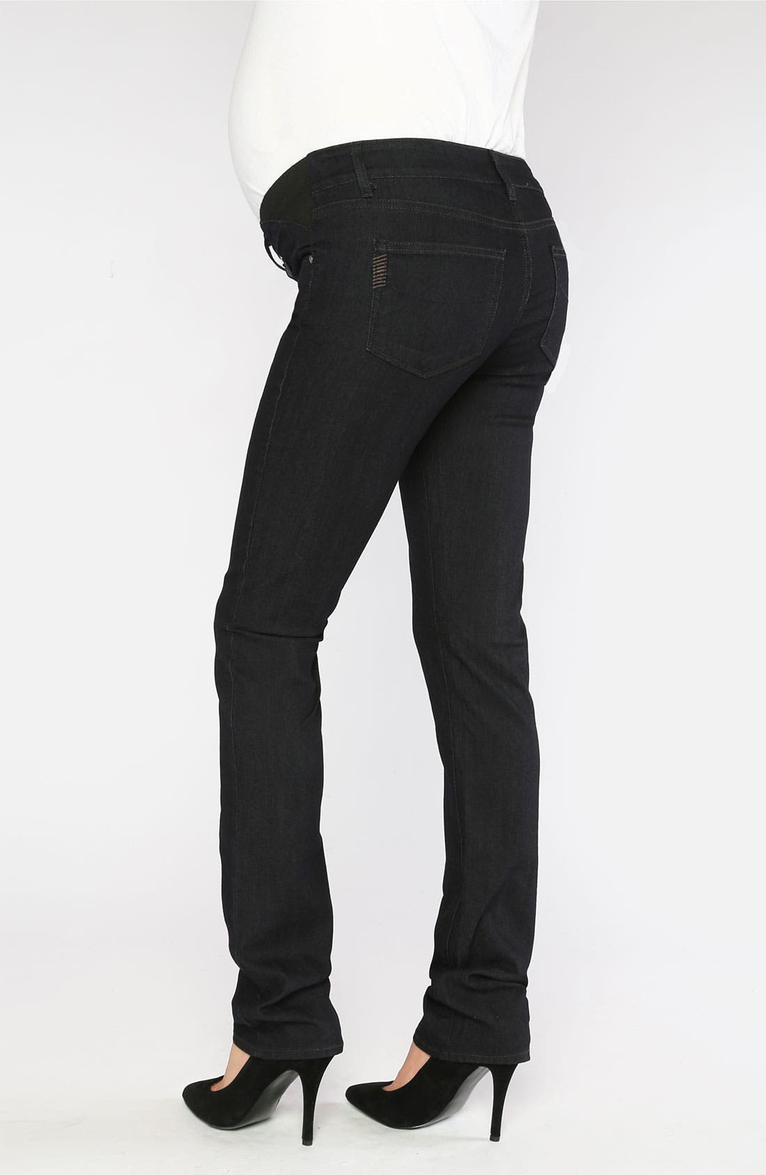 Alternate Image 2  - Paige Denim 'Union Skyline' Straight Leg Maternity Jeans (Twilight)