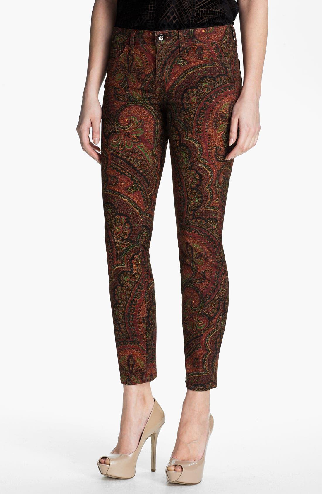 Main Image - Lucky Brand 'Sofia' Print Skinny Jeans