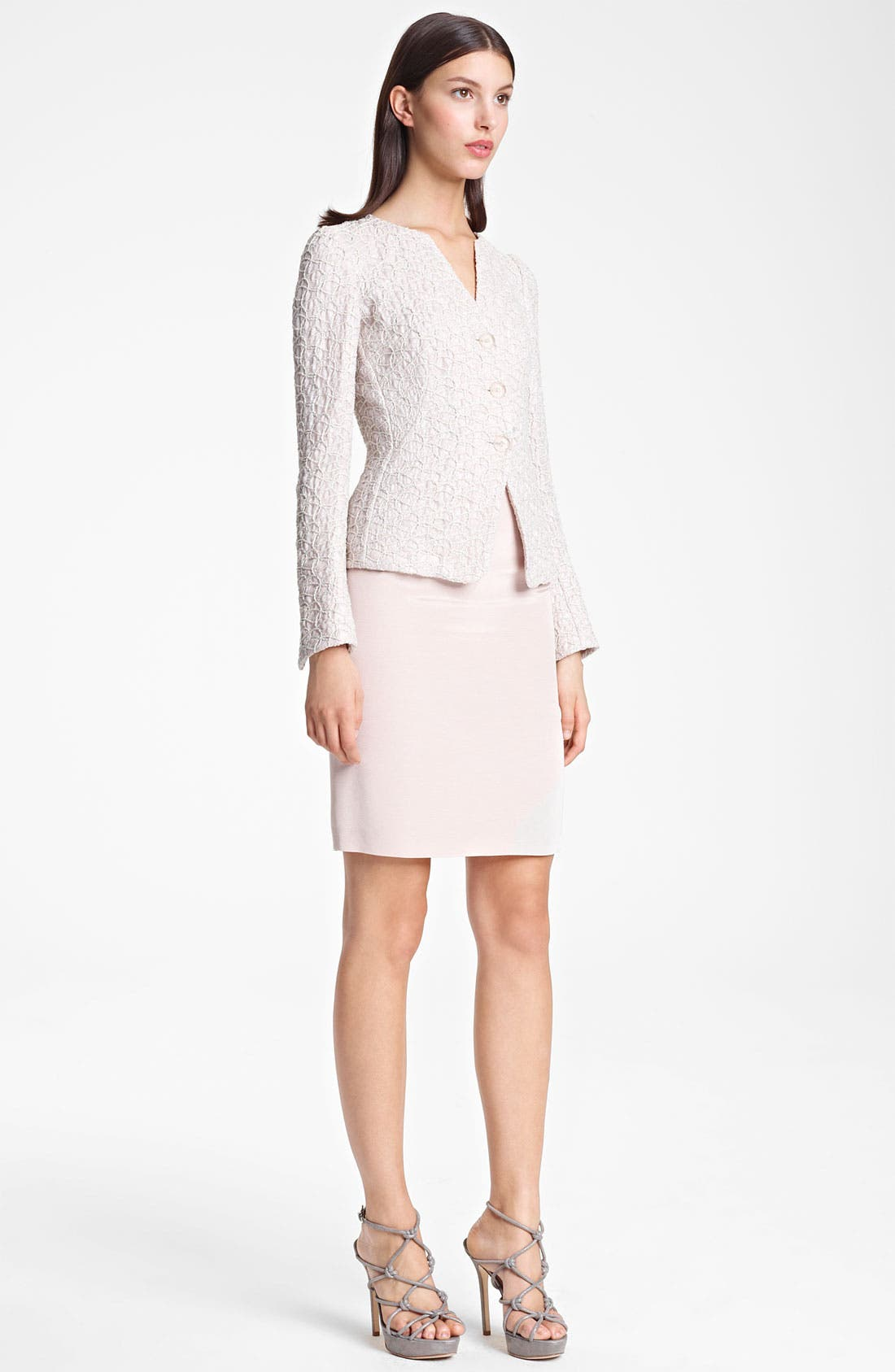 Alternate Image 1 Selected - Armani Collezioni Jacket, Blouse & Skirt