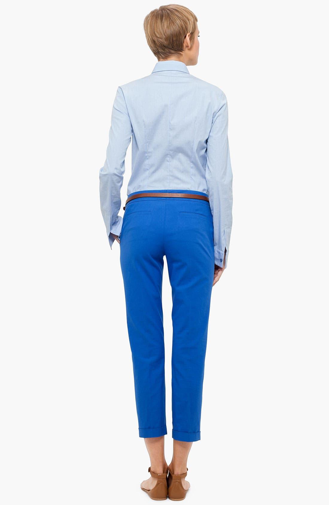 Alternate Image 3  - Akris punto 'Frankie' Stretch Cotton Crop Pants