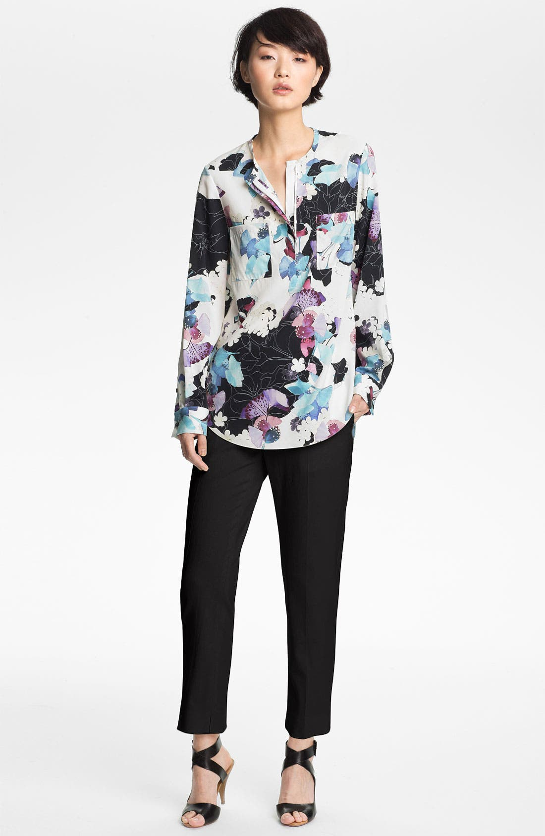 Alternate Image 1 Selected - 3.1 Phillip Lim Zip Henley Blouse
