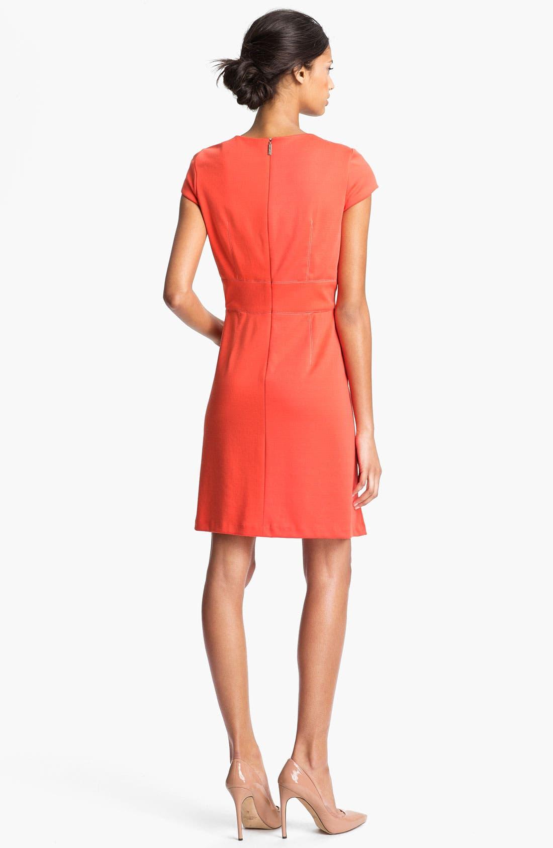 Alternate Image 2  - Donna Ricco Short Sleeve A-Line Dress