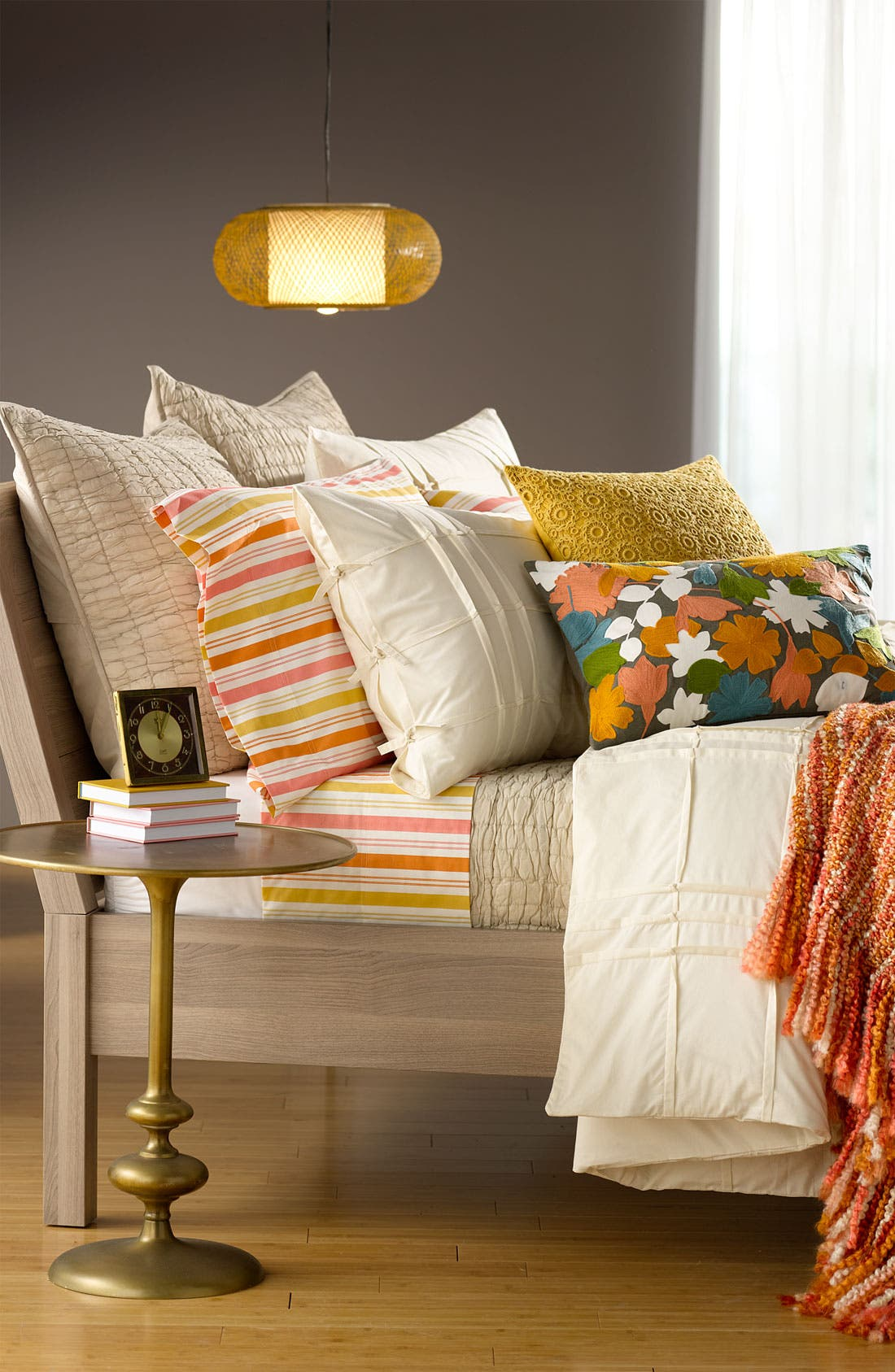 Alternate Image 2  - Nordstrom at Home Layered Floral Pillow Cover
