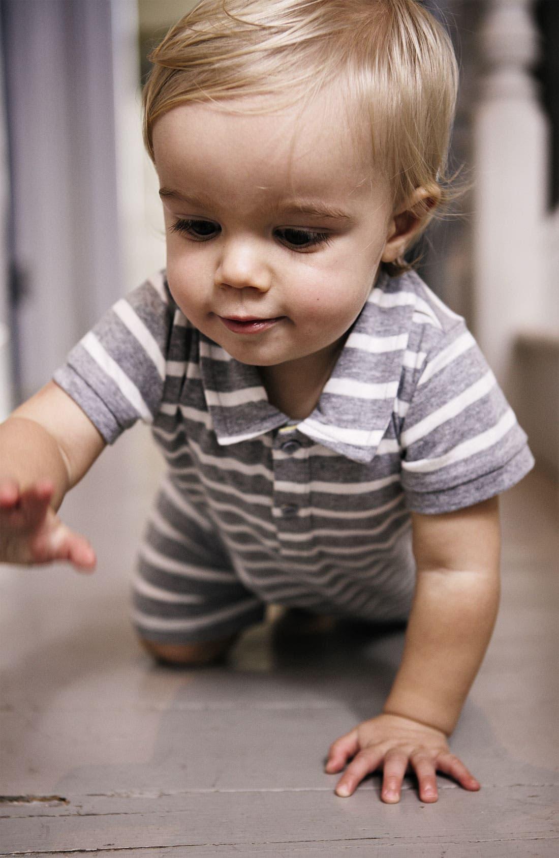 Alternate Image 2  - Mini Boden Polo Romper (Baby)