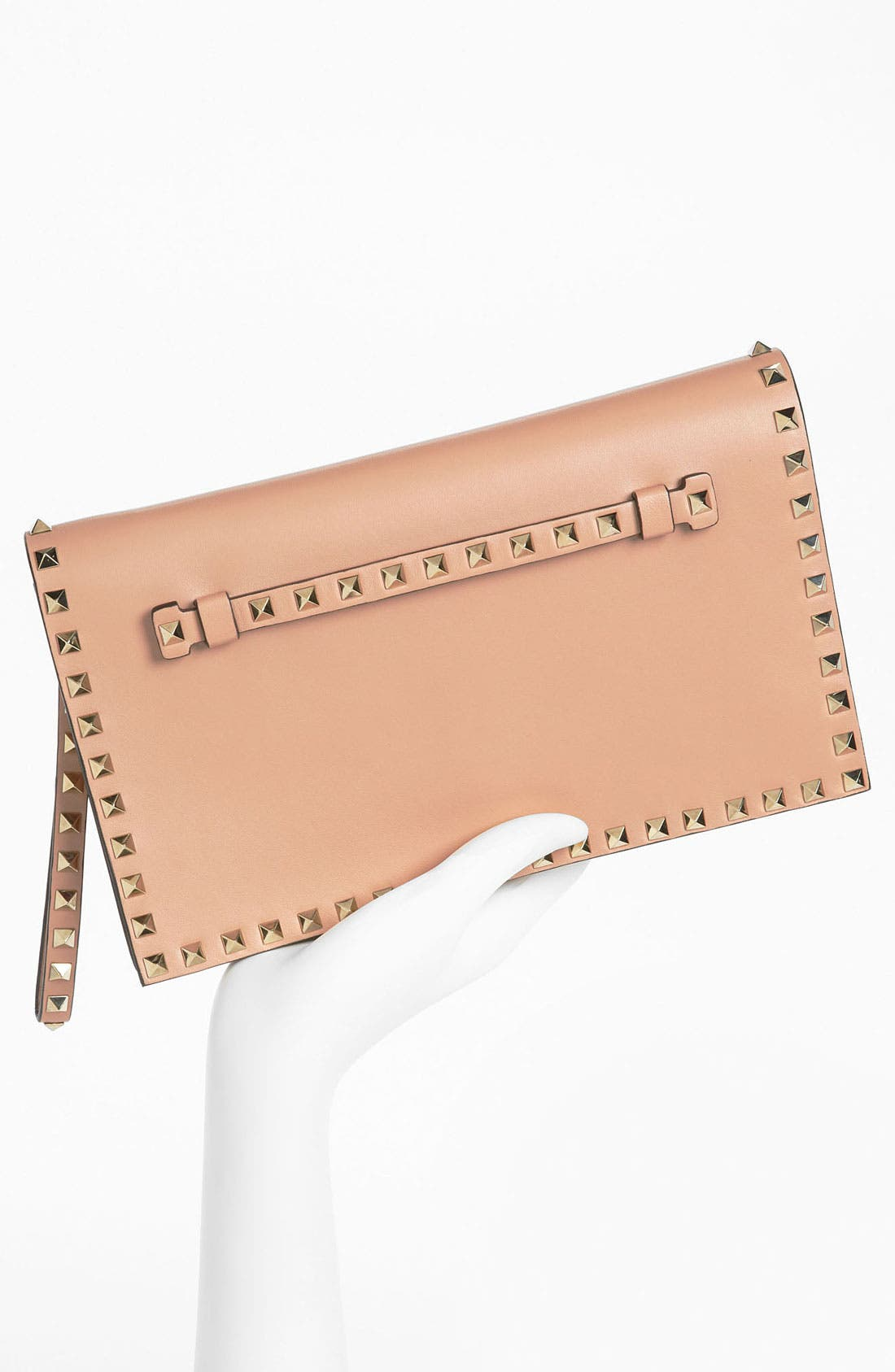 Alternate Image 2  - Valentino 'Rockstud' Nappa Leather Flap Clutch