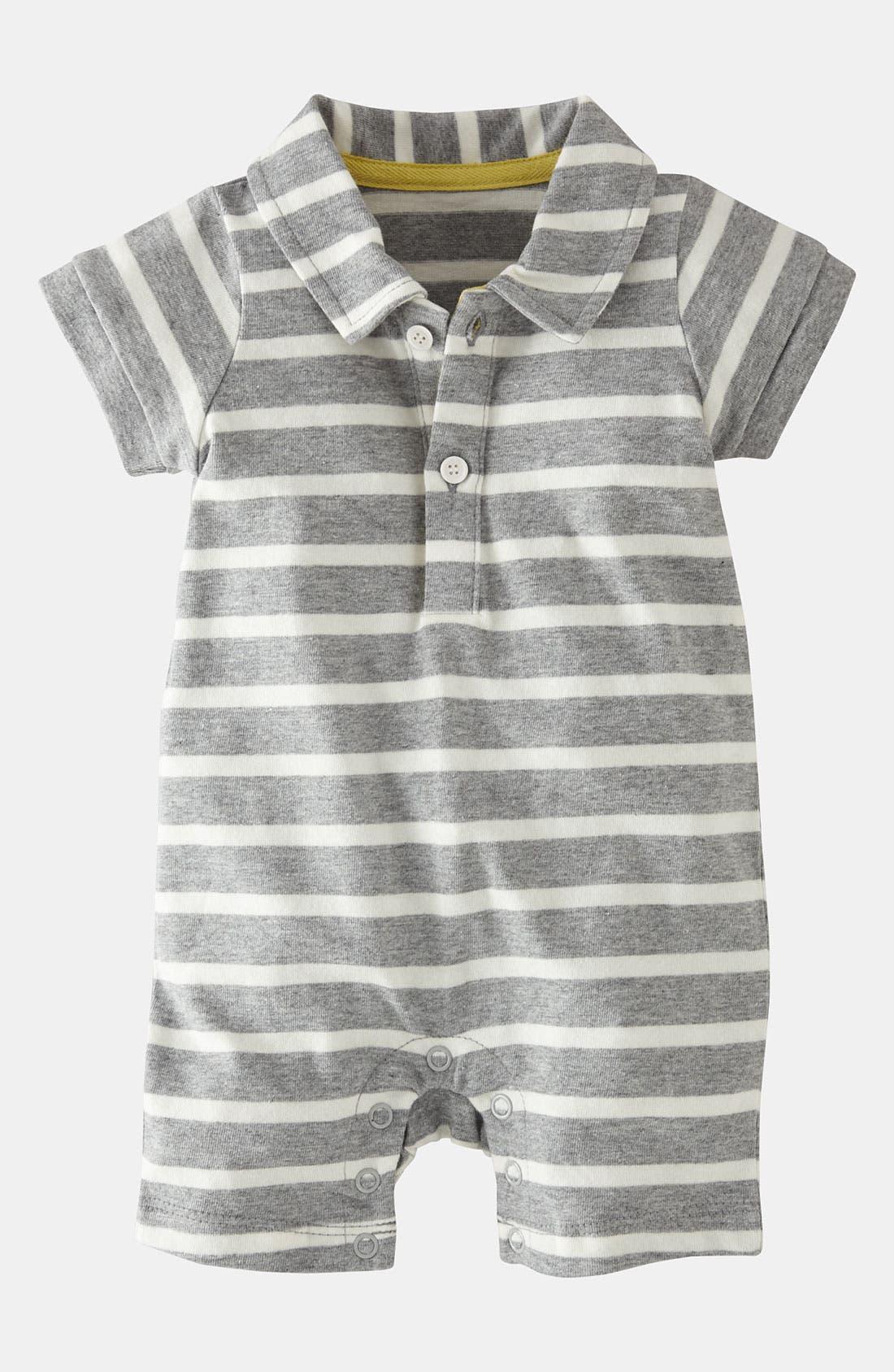 Main Image - Mini Boden Polo Romper (Baby)