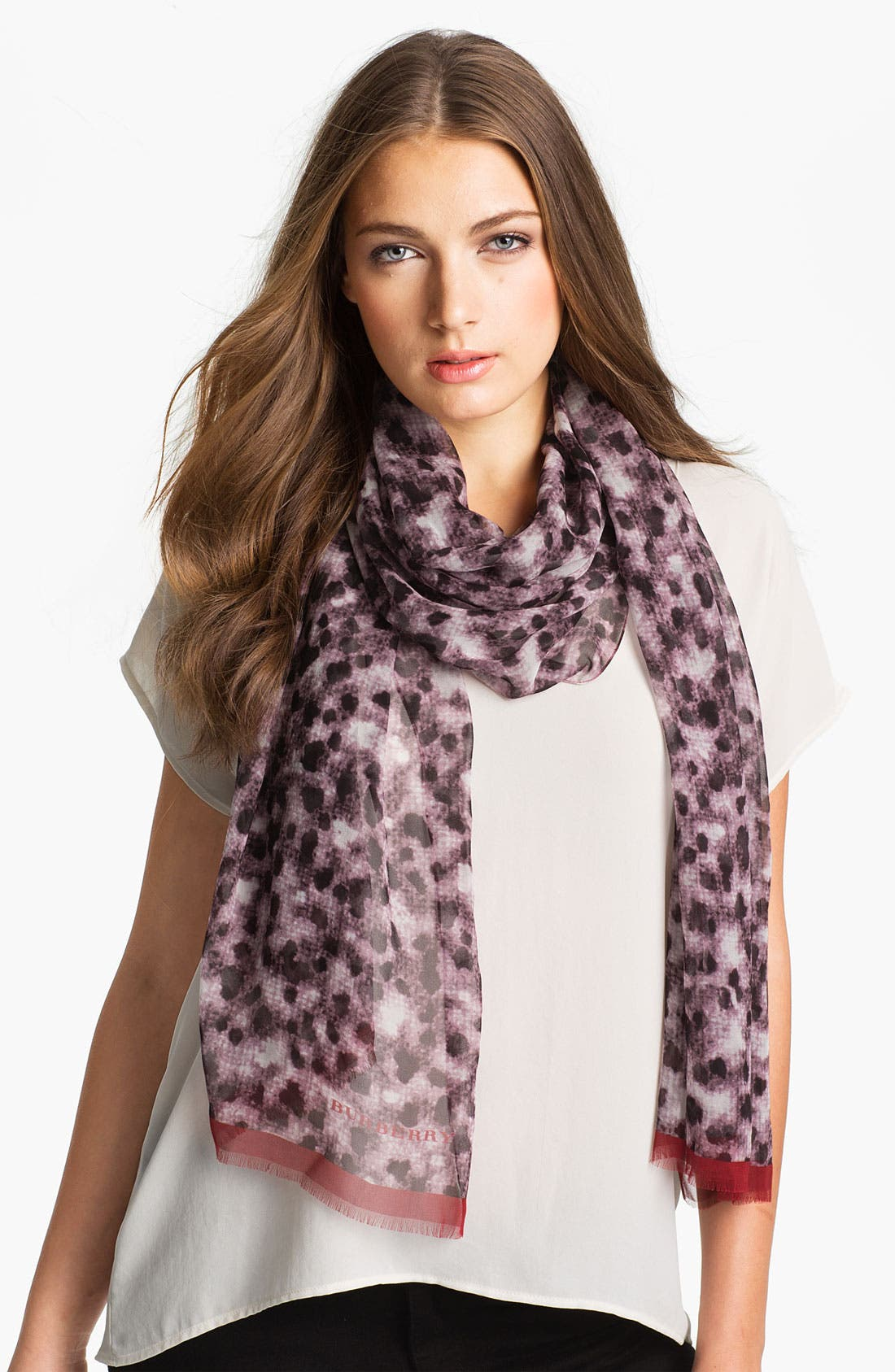 Main Image - Burberry Layered Chalk Dot Print Scarf