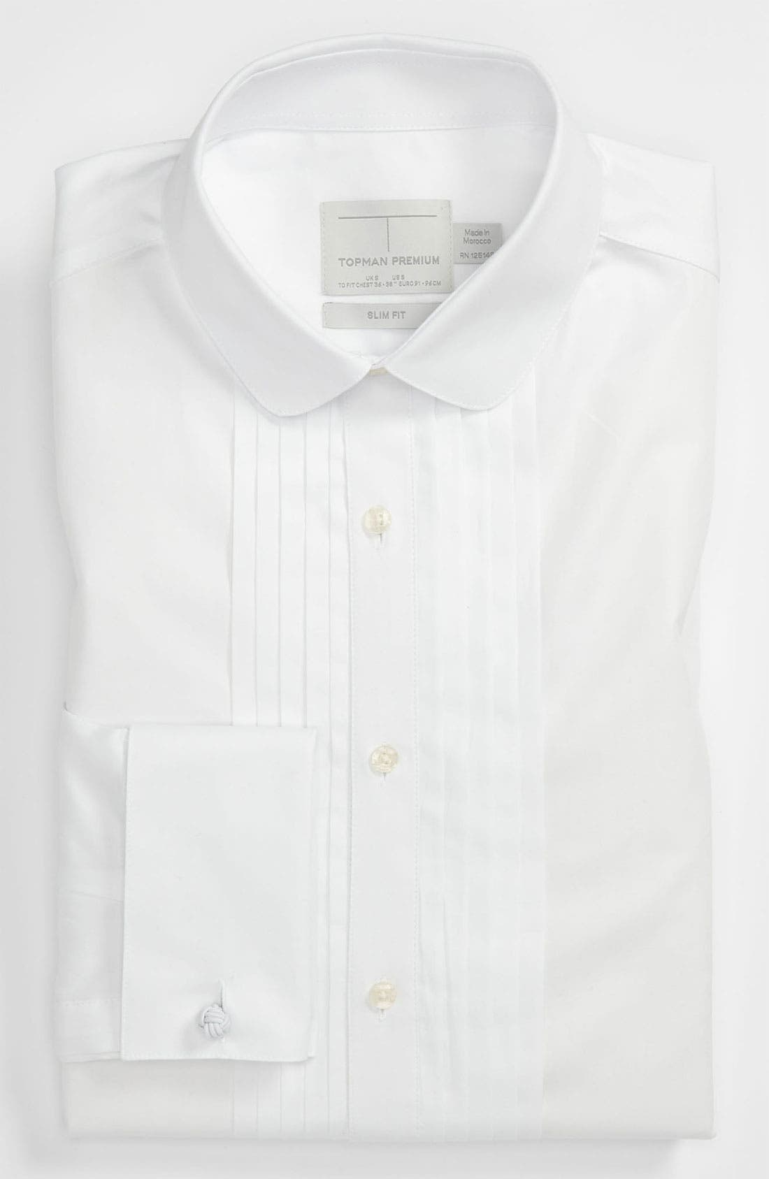 Alternate Image 1 Selected - Topman 'Premium' Slim Fit Dress Shirt