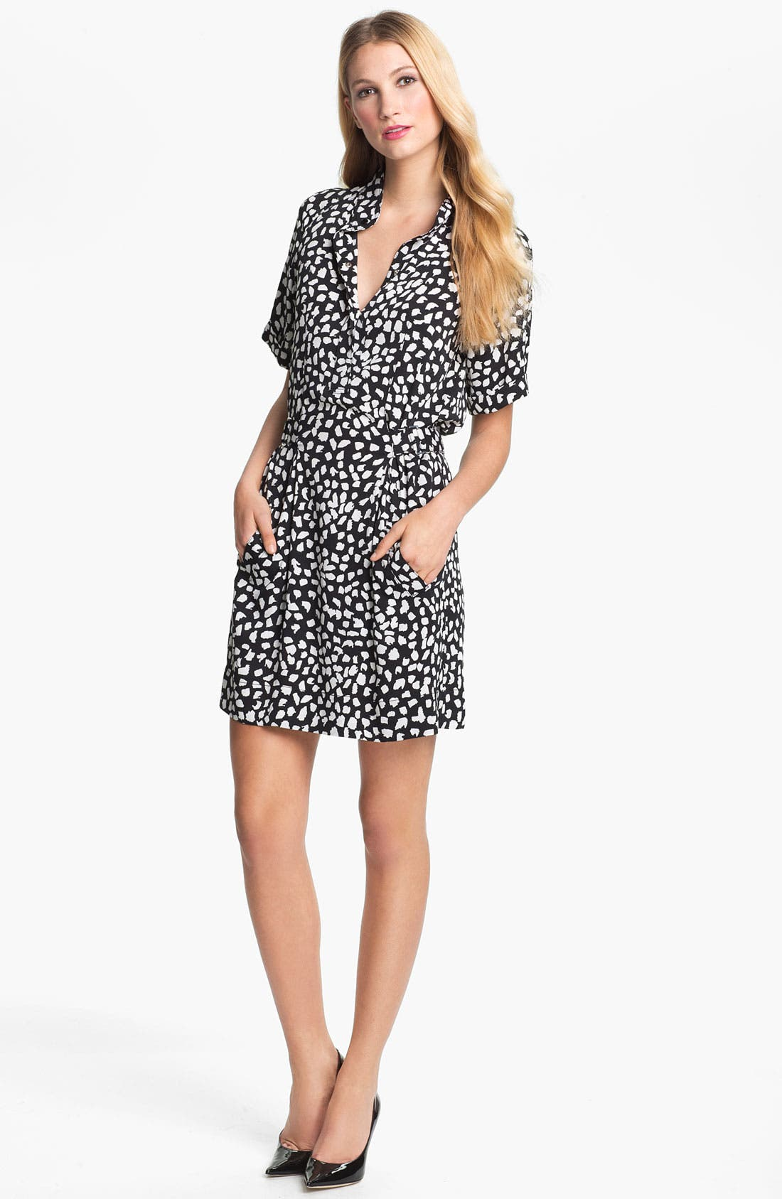 Alternate Image 1 Selected - Diane von Furstenberg 'Pharo' Stretch Silk Shirtdress