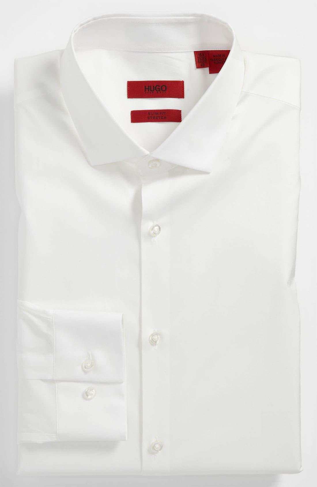 Main Image - HUGO Slim Fit Cotton Stretch Dress Shirt