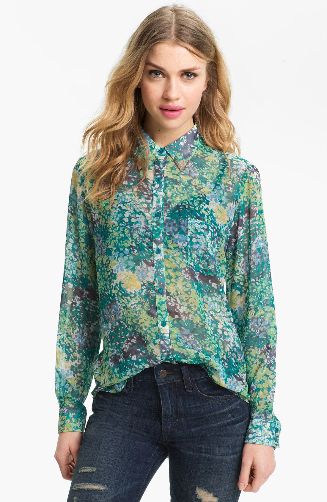 Alternate Image 1 Selected - Bellatrix Print Chiffon Shirt