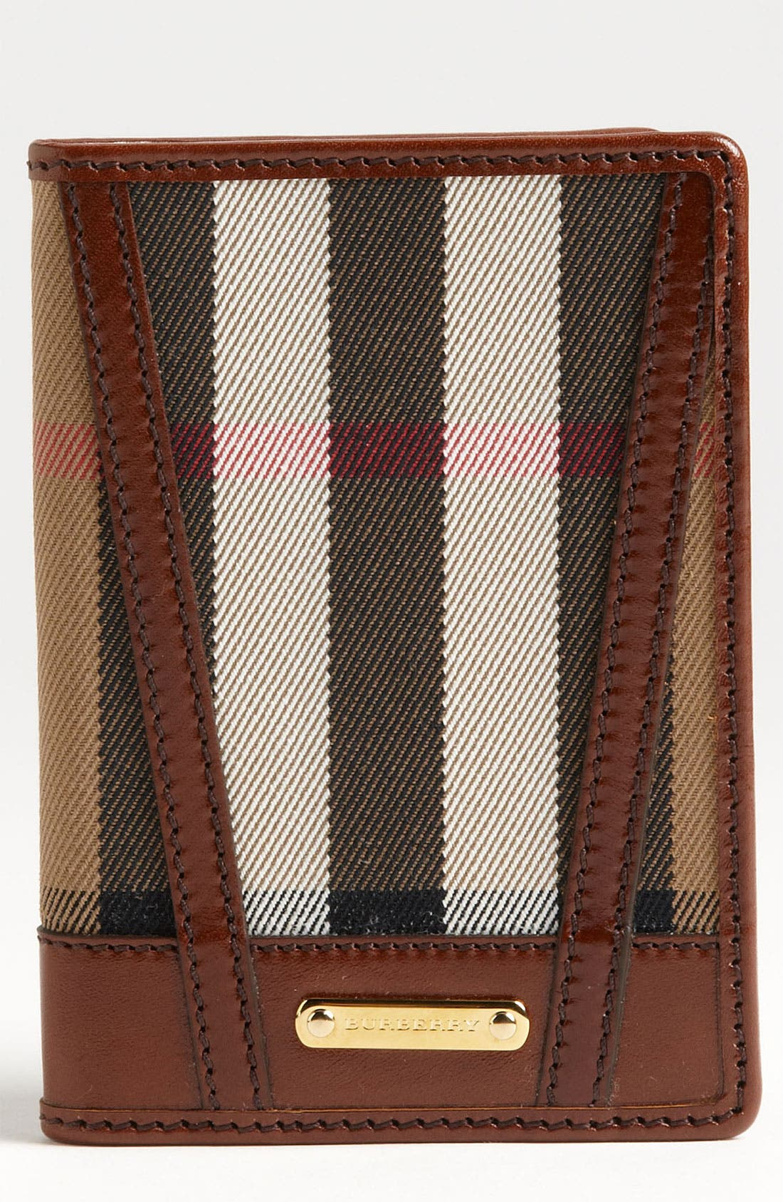 Main Image - Burberry 'House Check' Passport Wallet