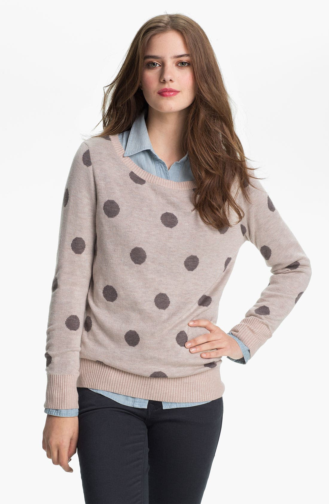 Alternate Image 1 Selected - Max & Mia 'Big Dot' Sweater