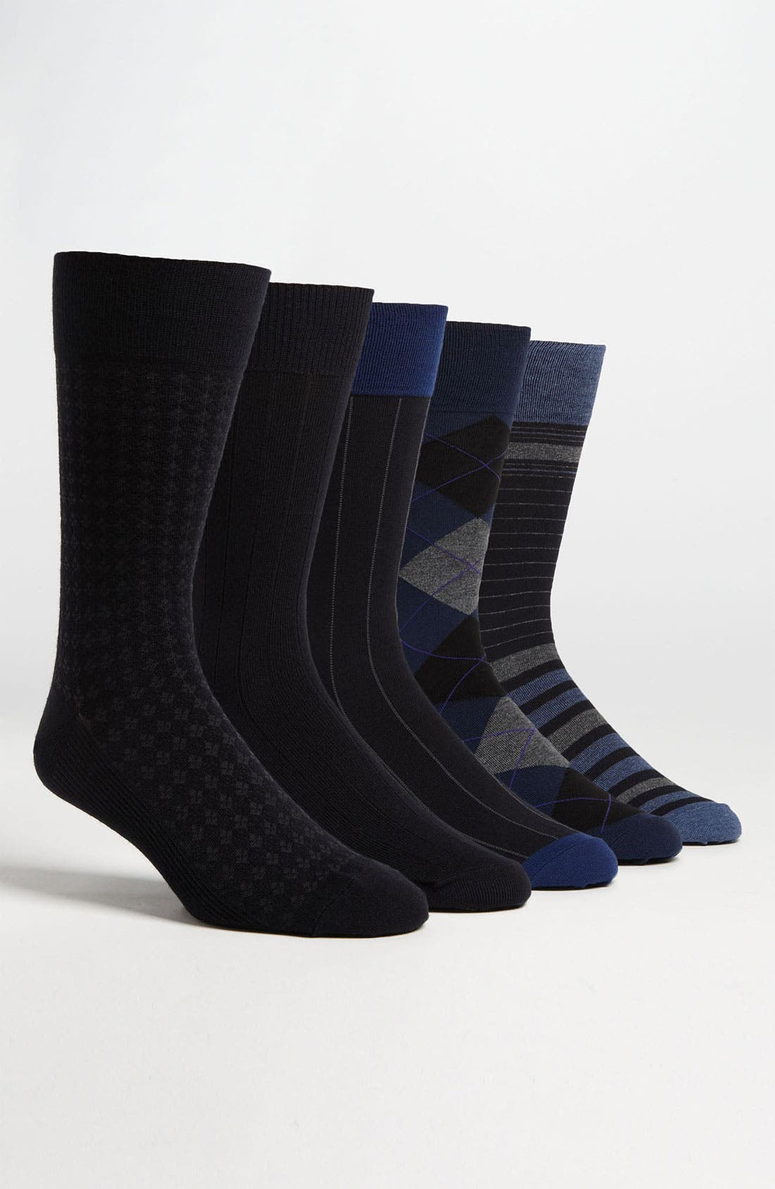 Main Image - Cole Haan Assorted Socks (5-Pack)