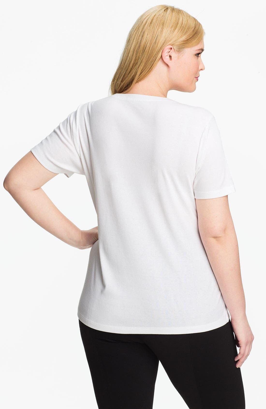 Alternate Image 2  - Sejour Short Sleeve Tee (Plus Size)