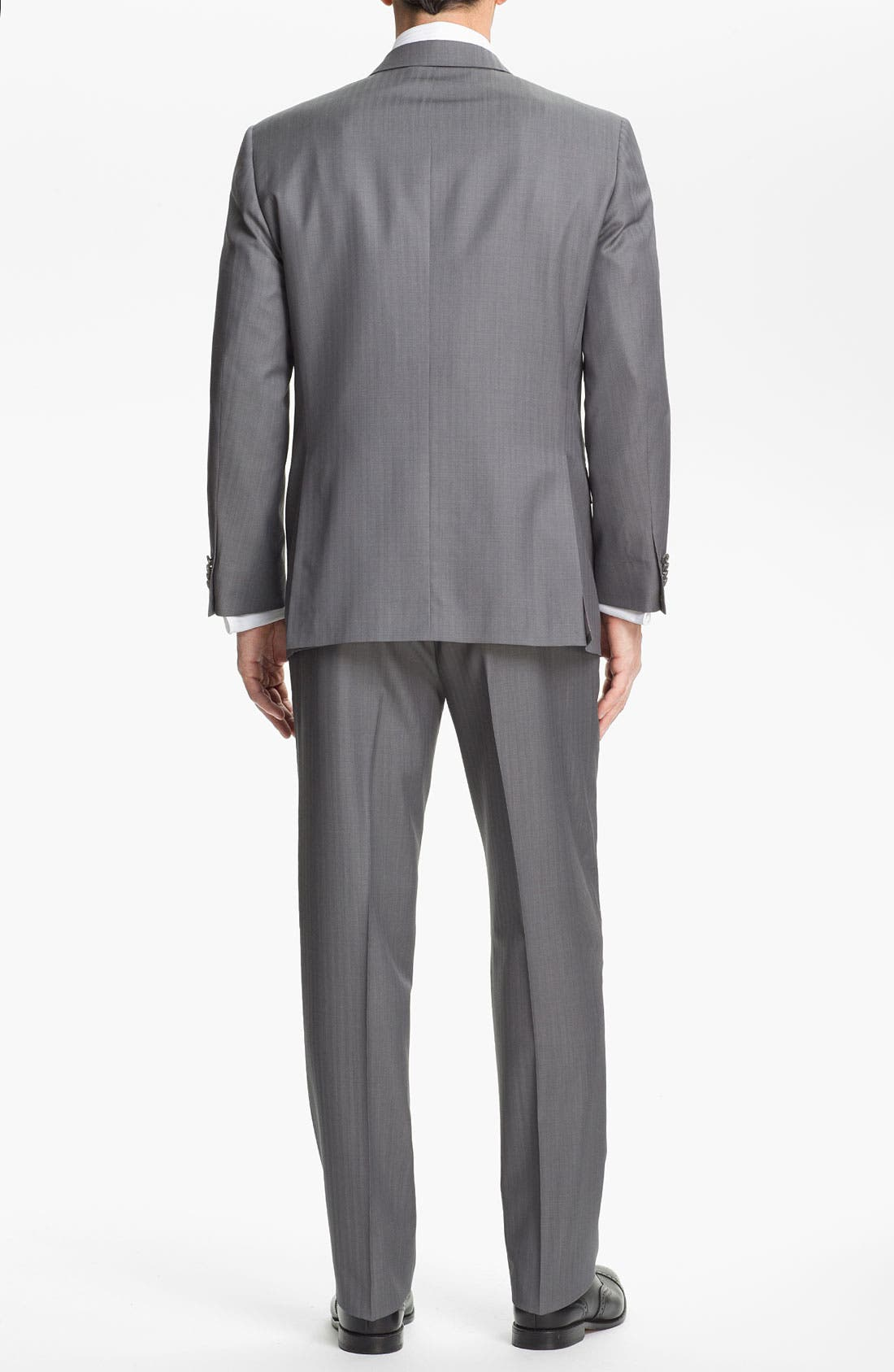 Alternate Image 3  - Hart Schaffner Marx Herringbone Suit