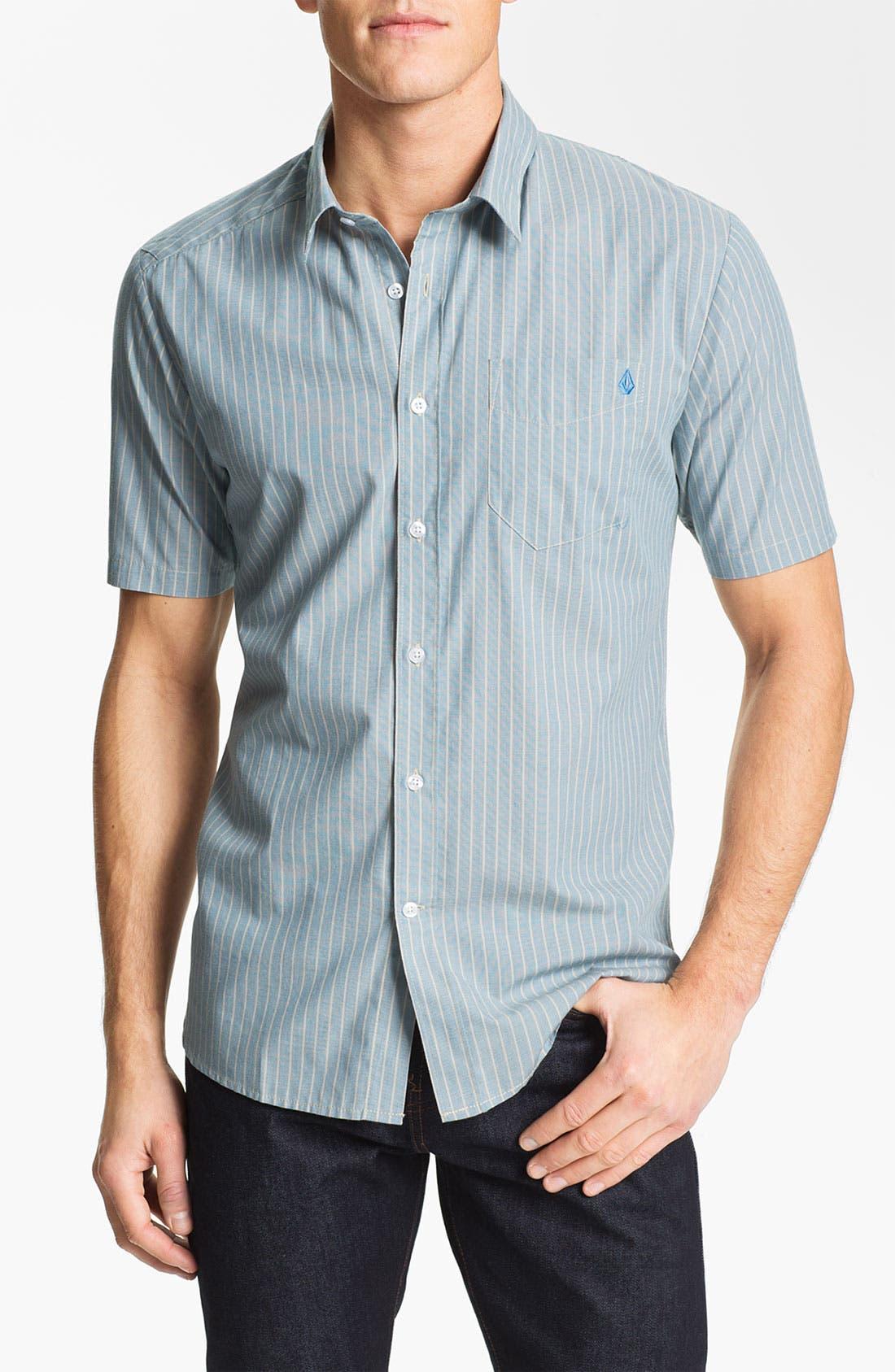 Alternate Image 1 Selected - Volcom 'Why Factor' Stripe Woven Shirt
