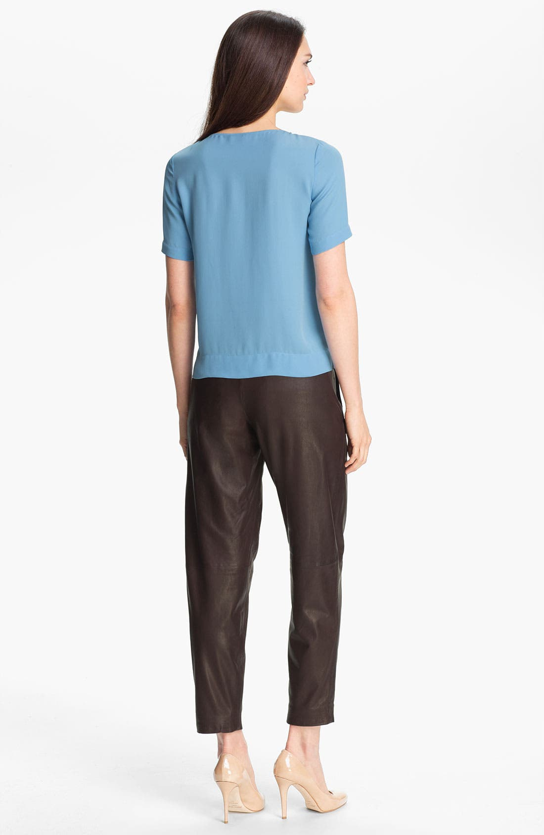 Alternate Image 5  - Theory 'Kina L.' Tapered Leather Pants