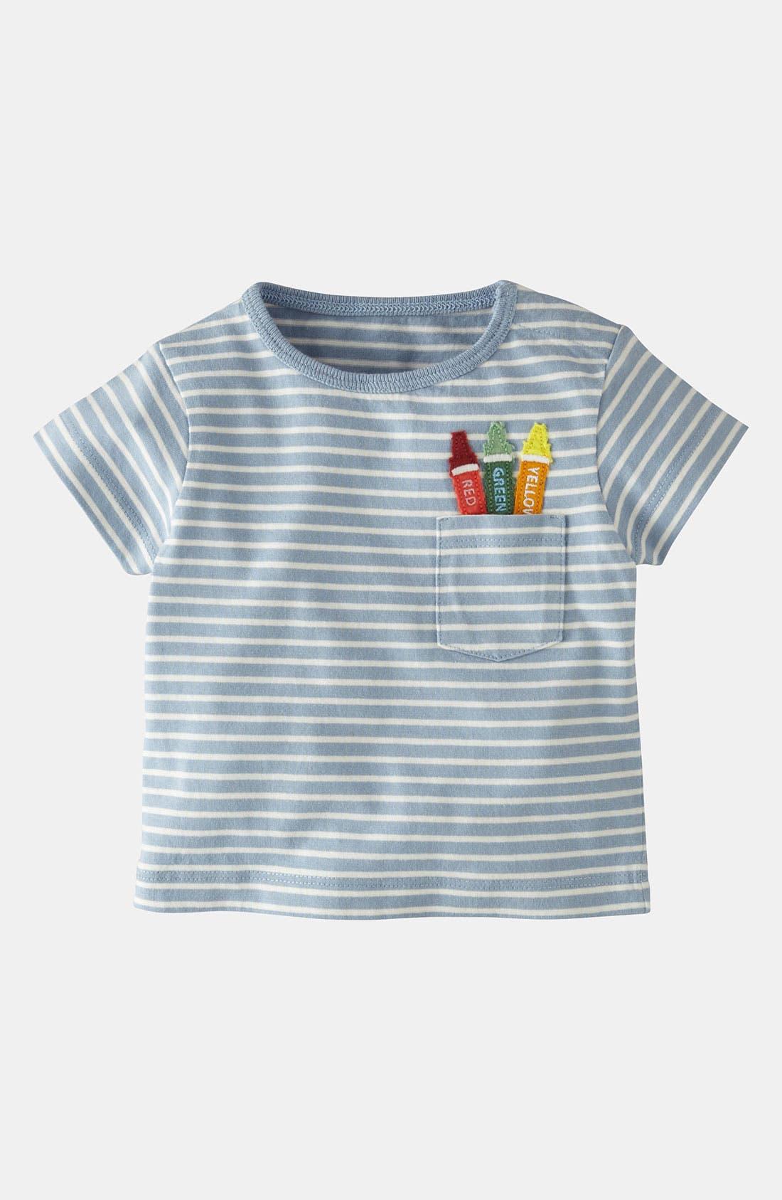 Main Image - Mini Boden 'Fun Appliqué' T-Shirt (Baby)