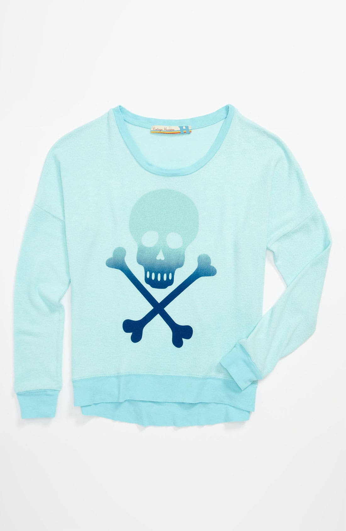 Alternate Image 1 Selected - Vintage Havana Skull Sweater (Big Girls)