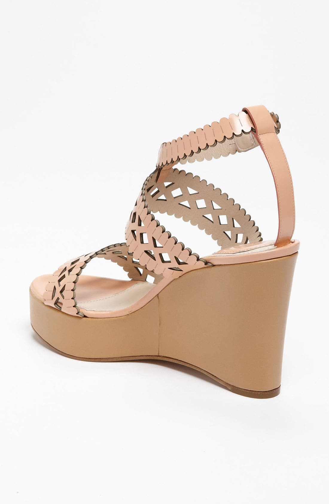 Alternate Image 2  - Chloé Laser Cut Wedge Sandal