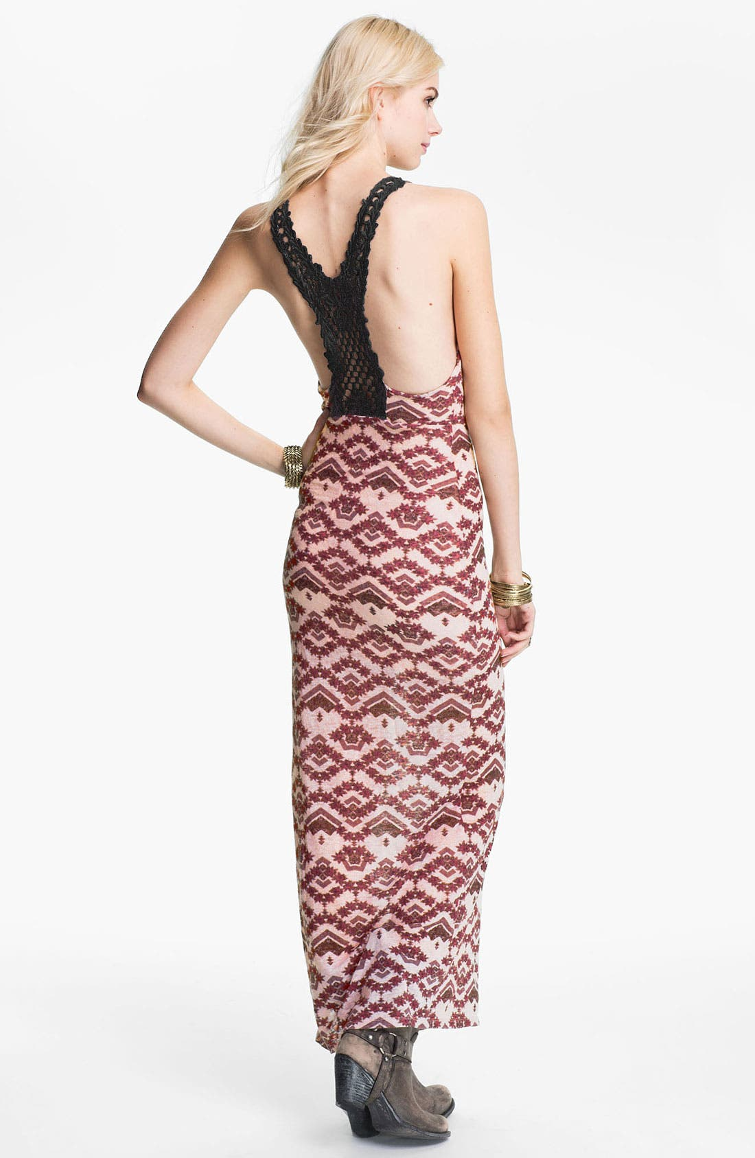 Alternate Image 2  - Free People Crochet Racerback Maxi Dress