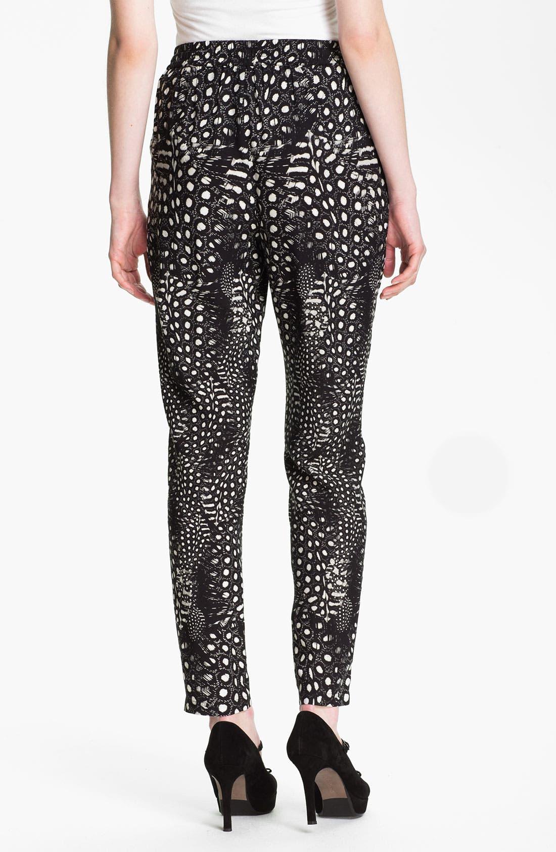 Alternate Image 2  - Cut25 Feather & Dot Print Pants