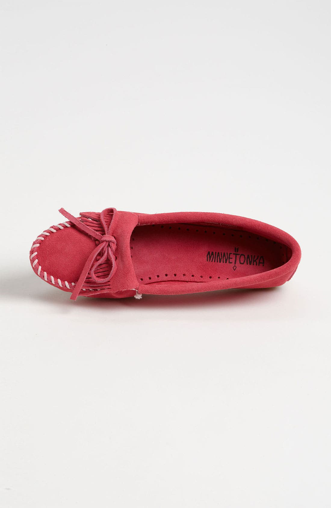 'Kilty' Suede Moccasin,                             Alternate thumbnail 3, color,                             Pink