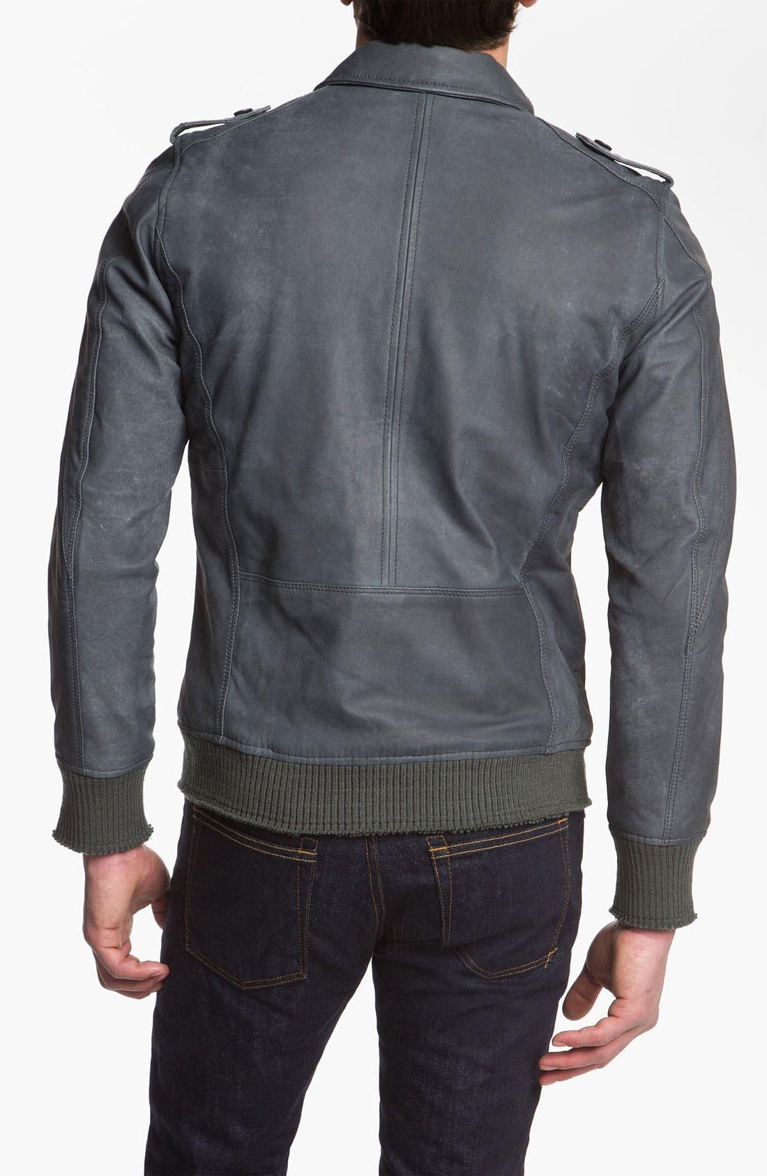 Alternate Image 2  - DIESEL® 'Lacco' Leather Jacket
