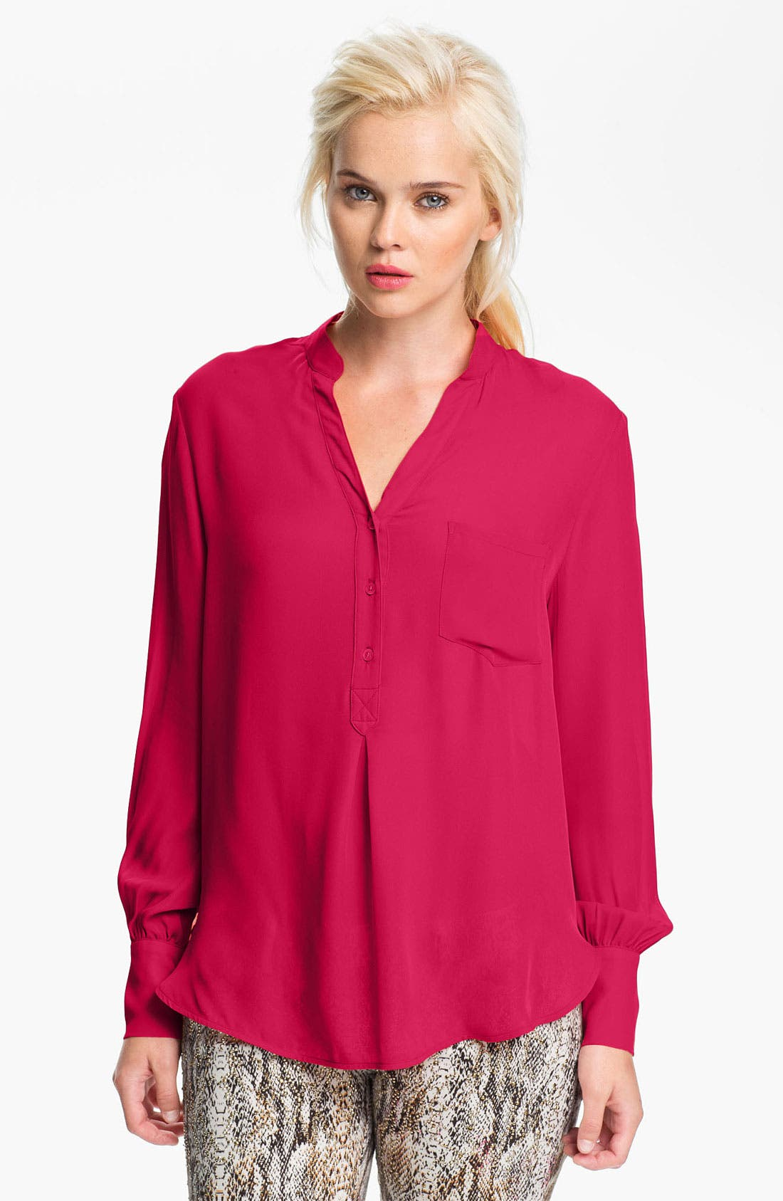 Silk Blouse,                         Main,                         color, Freesia