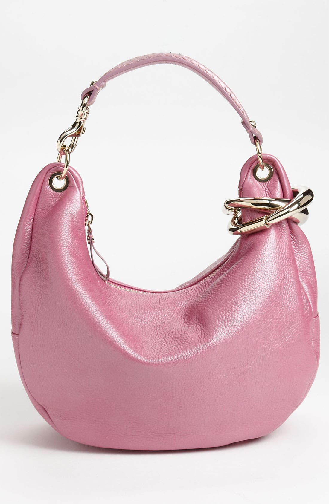 Alternate Image 4  - Jimmy Choo 'Solar - Small' Pearlized Metallic Leather Hobo